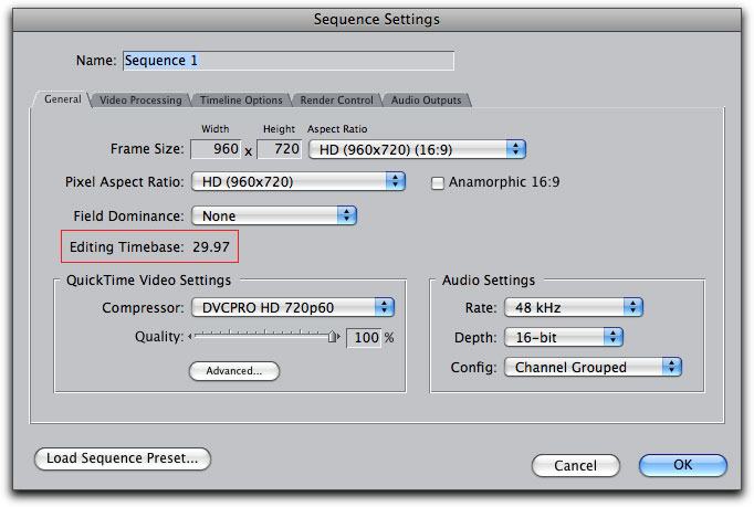 Converting Frame Rates in Compressor
