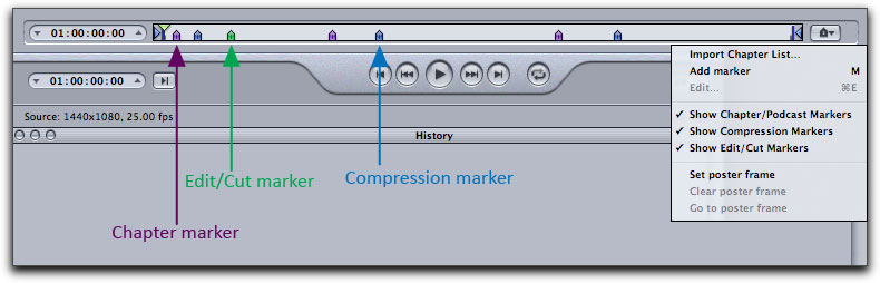 how to insert markers on final cut pro
