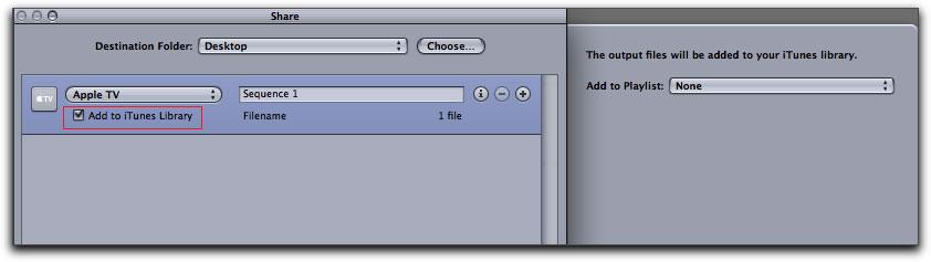 FInal Cut Pro 7 - Share