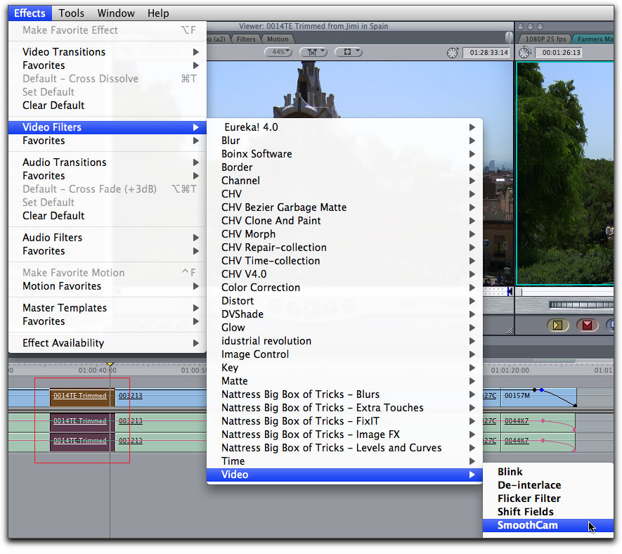 Final Cut Pro 7 - SmoothCam