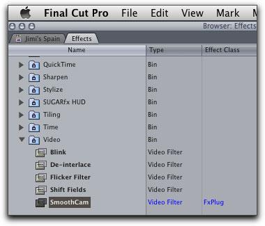 Final Cut Pro 7 - SmoothCam