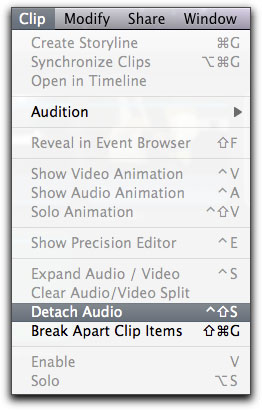 separate audio and video