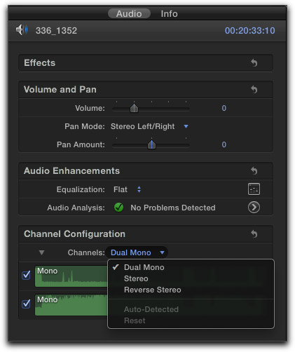 Final Cut Pro X - Dual Track Audio Editing