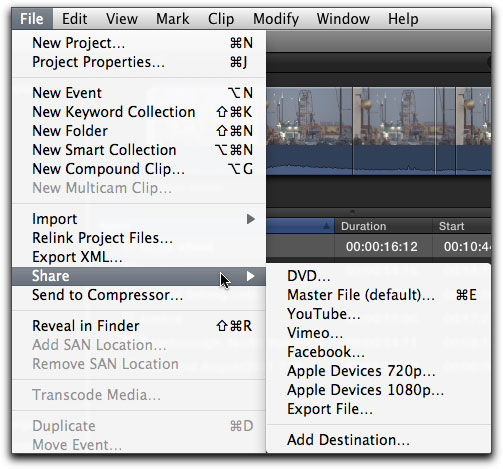 How to Export Video from Final Cut Pro X