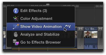 how to show keyframes in final cut x