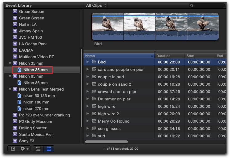 how to merge all clips in final cut pro