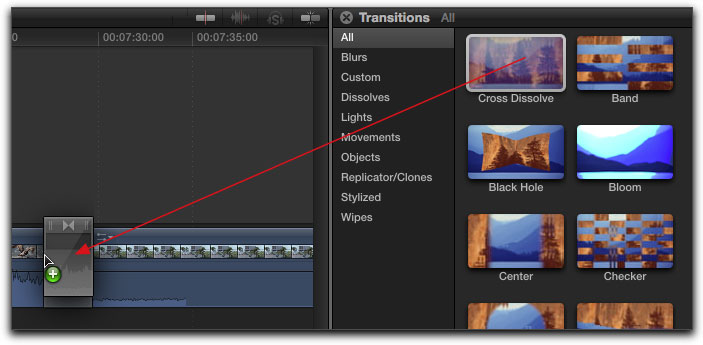 Transitions in FCP X
