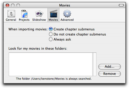 how to create chapters in imovie