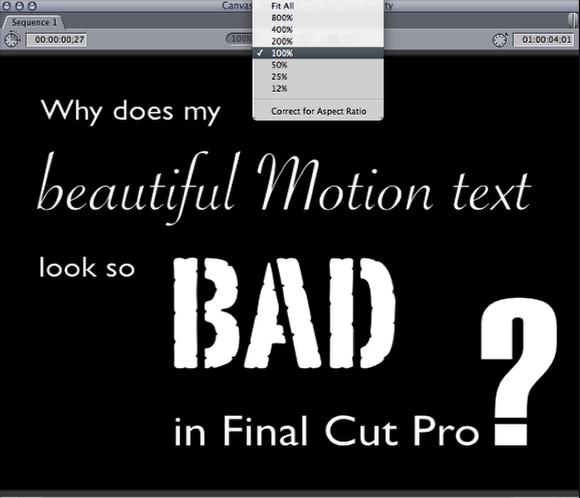 Why Your Beautiful Motion Text Looks Bad in Final Cut Pro