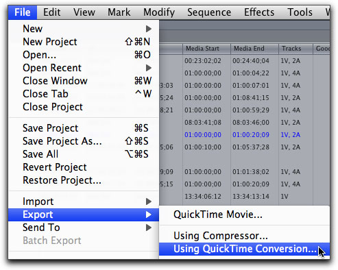 quicktime h264 movies from fcp for the web