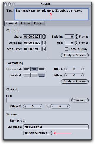 Creating Subtitles in DVD Studio Pro 4